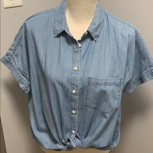Women's Madewell Shirt, Size Small, Denim